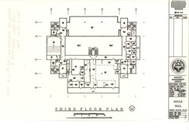 Floor plan of Gould Hall third floor