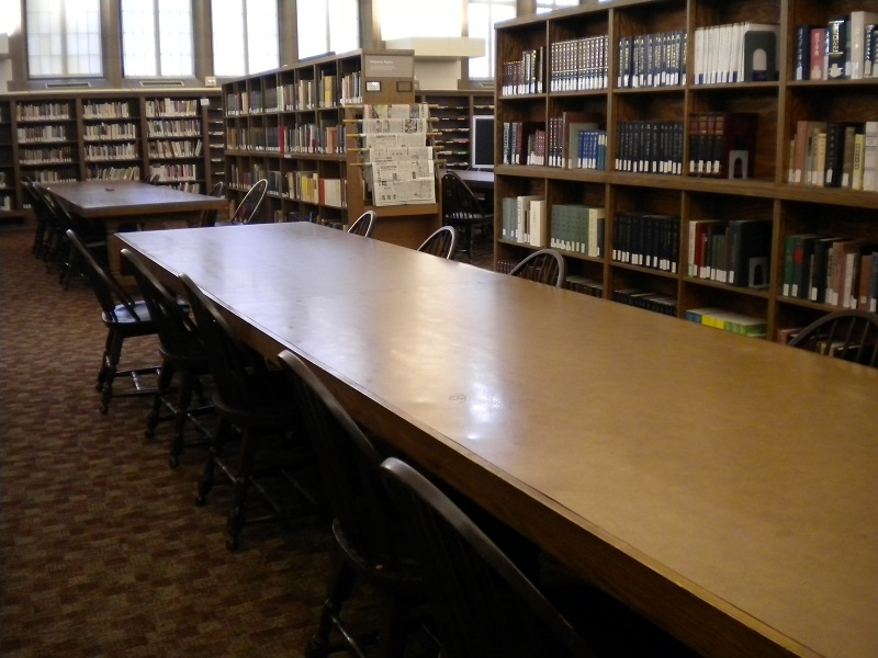 Table in Reading Room