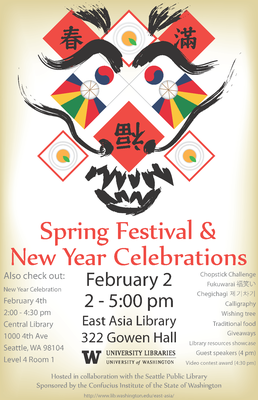 Revised Spring Festival Poster Uw Libraries