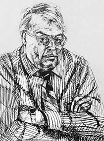 Drawing of Matthew Kangas