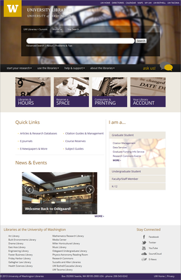 Libraries Redesigned Website