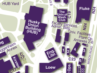 Engineering Library on Seattle Campus Map