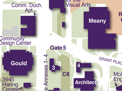 Gould Hall on Campus Map