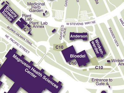 Health Sciences on Campus Map