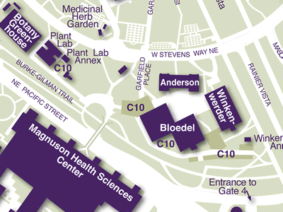 Health Sciences on Campus Map
