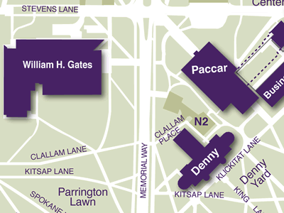 Gates Hall on Campus Map