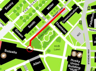 North Allen Entry map