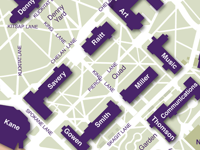 Quad on Campus Map
