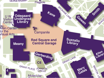 Red Square on Seattle Campus Map
