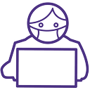 person wearing a facemask icon
