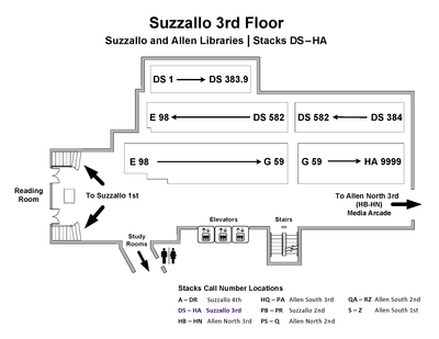 Call Number Map - Suzzallo 3rd