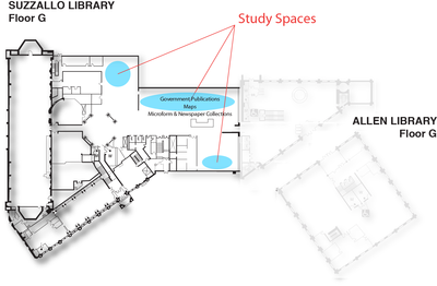 Study Spaces Suzzallo Floor G