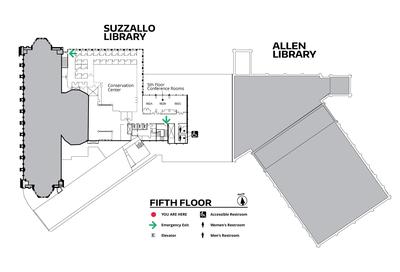 Suzzallo/Allen Fifth Floor Map