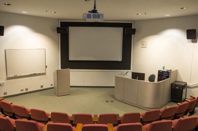 Allen Auditorium view of podium