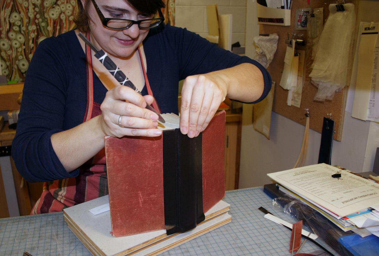 Bindery book repair