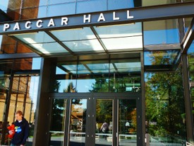 Foster Library Paccar Hall Entrance