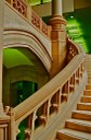 Grand Stair Case with Green Lights