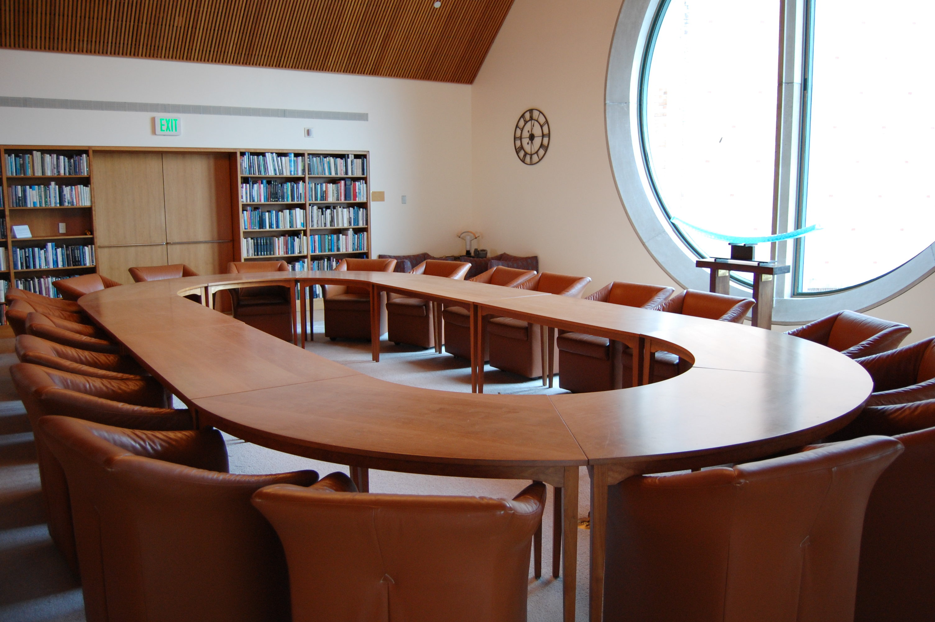 Petersen Room Conference Table UW Libraries - Large round meeting table