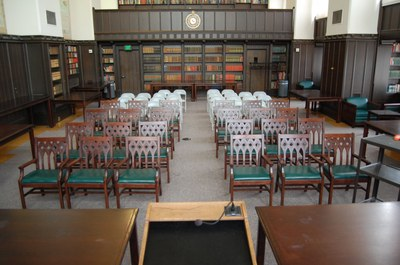 Smith Room Photo - Lecture Setup - from podium