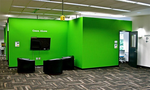 Research Commons Green Alcove