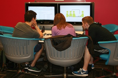 Research Commons group computer area