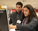 Student Staff at Libraries Research Commons Desk