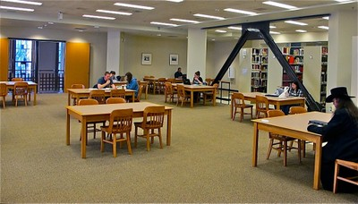 Suzzallo 4th Floor Overlook Study Area