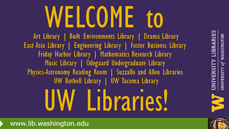 Welcome to the Libraries!
