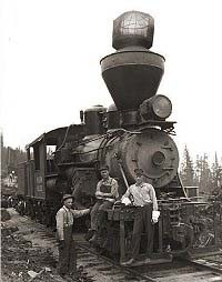 Three-truck, class B Climax locomotive