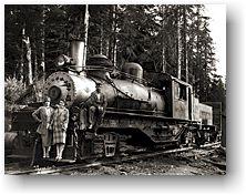 Three-truck Shay locomotive no. 7