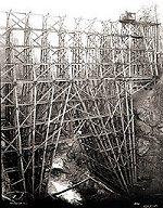 High trestle under construction