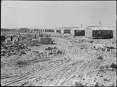 Relocation Camp Under Construction