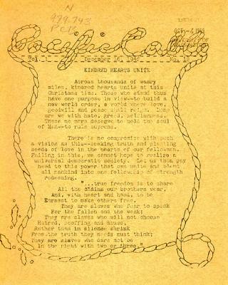 Page 1, Pacific Cable Vol. 1, No. 12 -- 16 Dec. 1942