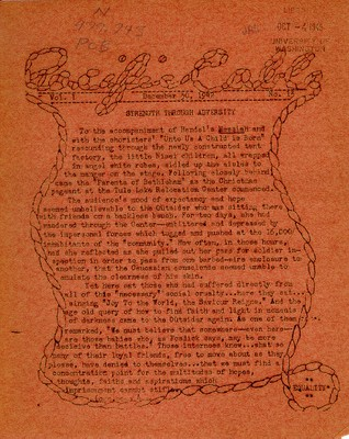 Page 1, Pacific Cable Vol. 1, No. 13 -- 30 Dec. 1942