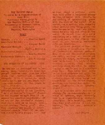 Page 2, Pacific Cable Vol. 1, No. 13 -- 30 Dec. 1942