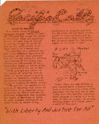 Page 1, Pacific Cable Vol. 1, No. 14 -- 18 Jan. 1943