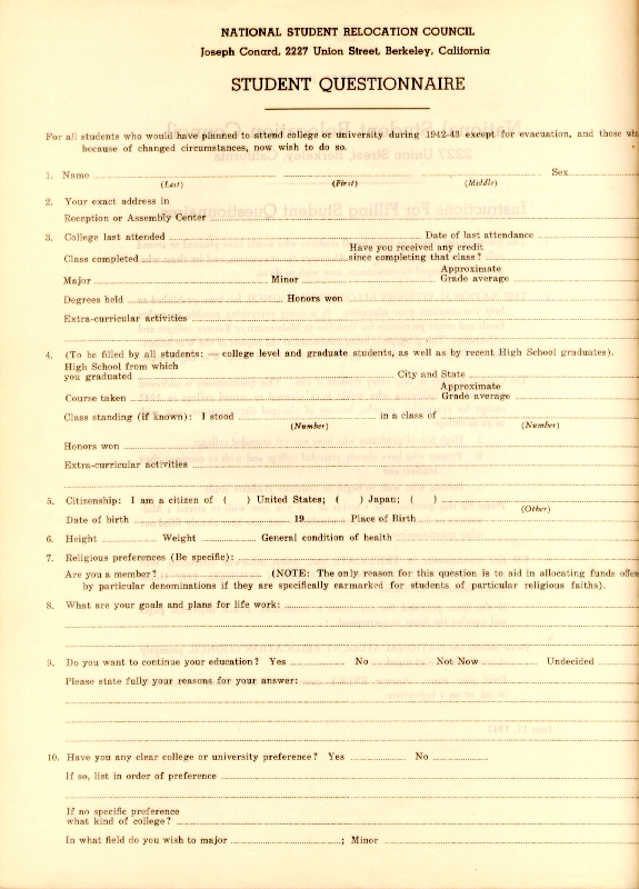 Page 2 national student relocation council questionnaire uw libraries view download image yadclub Images