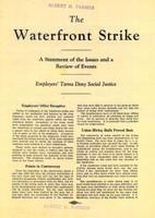 A pamphlet from the International Longshoremen's Association.Albert H. Farmer Papers, Acc. 3641-1, Box 1, UW Libraries