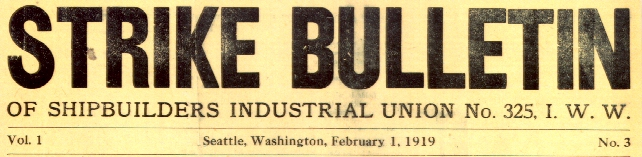A strike bulletin from 1919.