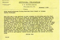 Telegram similar to the misdelivered one, Charles Piez to Henry SuzzalloUW President's Office, Records, Acc. #71-34, Box 135/15, UW Libraries
