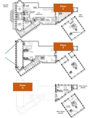 Floor map of Suzzallo and Allen Libraries